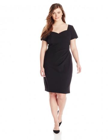 Adrianna Papell Plus-Size Origami Folded Sweatheart Neckline Sheath Dress For Women