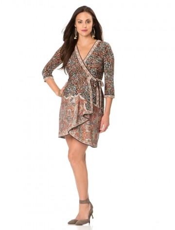BCBGMAXAZRIA - 3/4 Sleeve Wrap Maternity Dress For Women