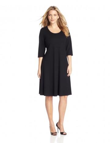 Karen Kane - Plus-Size Three-quarter Sleeve Flare Dress