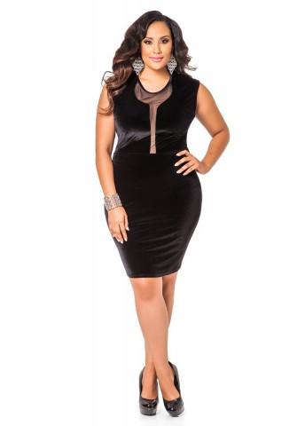 Ashley Stewart Women S Plus Size Black Color Sleeveless Velvet