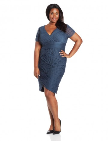 Adrianna Papell 25% off on Plus-Size Short Sleeve Shirred Dress For Women