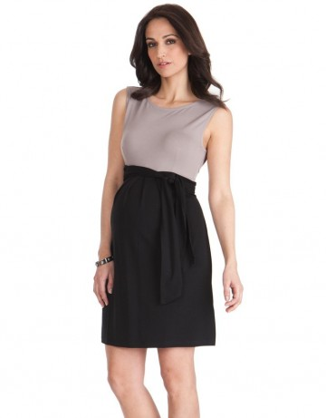 Seraphine Maternity Sleeveless Color Block Dress