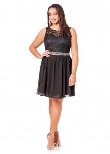 fa4f8e9ea3c Ashley Stewart Plus Size Lace Top Beaded Sleeveless Dress For Women