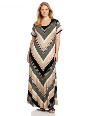 Calvin Klein - Plus-Size Stripe T-Shirt Maxi Dress For Women
